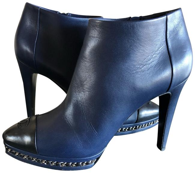 Item - Navy Blue Boots/Booties Size US 8.5 Narrow (Aa, N)