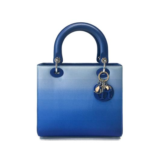 Preload https://img-static.tradesy.com/item/23313958/dior-lady-dior-christian-medium-gradient-blue-canvas-tote-0-0-540-540.jpg
