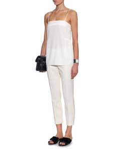 Helmut Lang Silk Silk Evening Top cream