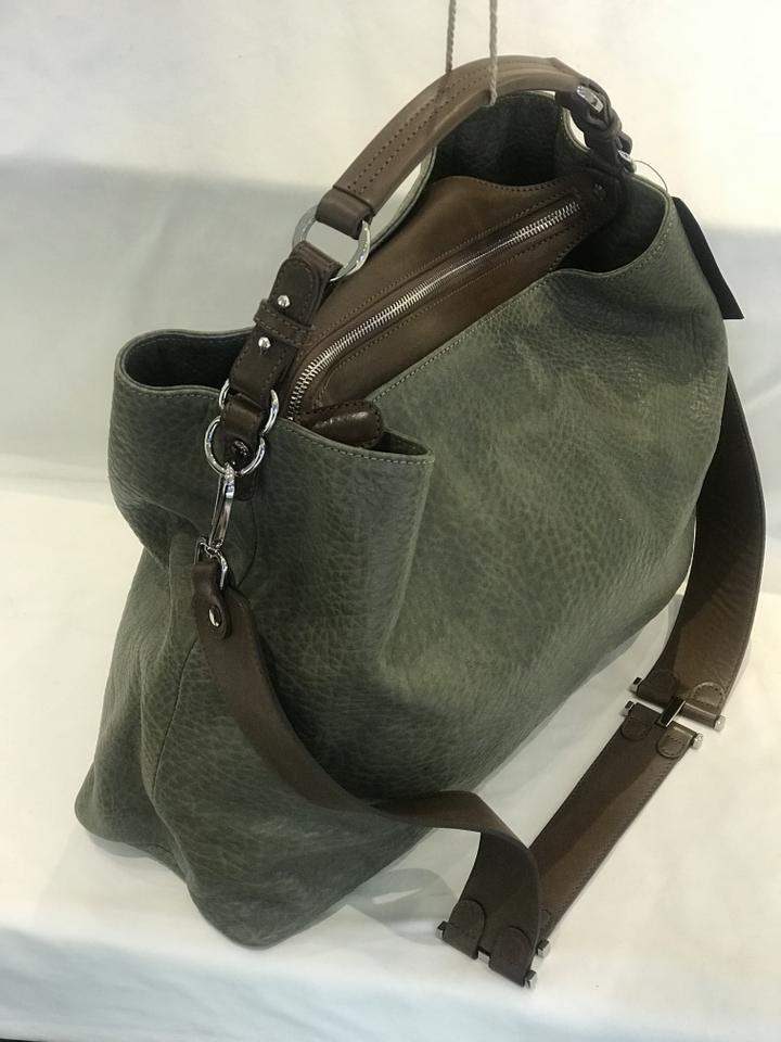 Leather Pebble Green Crossbody Tote Marni pOqwTnUOx