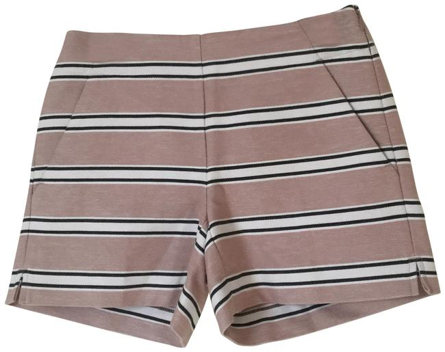 Item - Blush White Black Stripes Riviera Shorts Size 00 (XXS, 24)