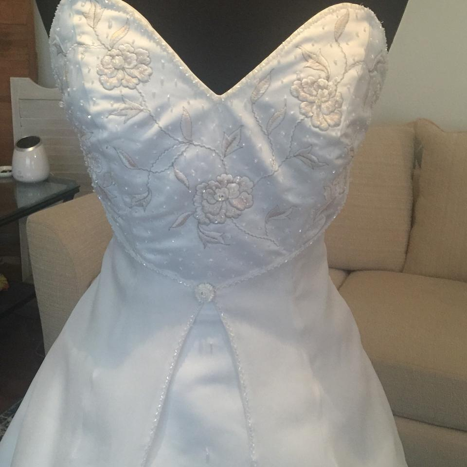 Bonny Bridal White & Pink Satin Embroidered Ball Gown Traditional ...