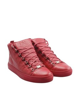 Balenciaga Sneakers Leather Red Boots