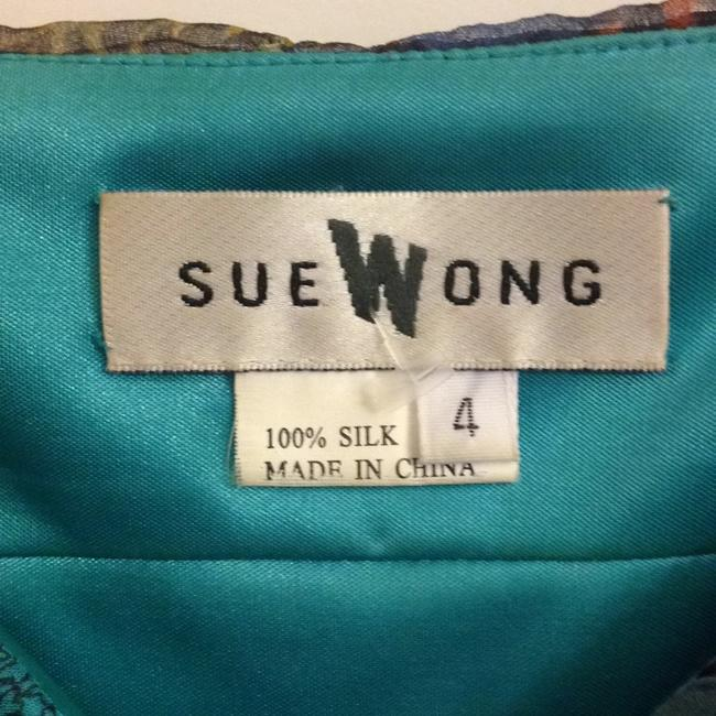 Sue Wong short dress Multi with French themed motif BAGNERES DE LUCHON Sundress Spaghetti Strap Silk Vintage on Tradesy