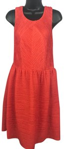 Bordeaux short dress Red Orange on Tradesy