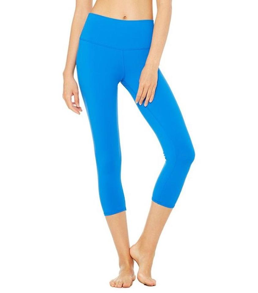 5e76dba763e865 Alo Blue Yoga High-waist Airbrush Capri Legging Activewear Bottoms ...