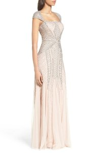 Adrianna Papell Embellished Mesh Gown Evening Dress