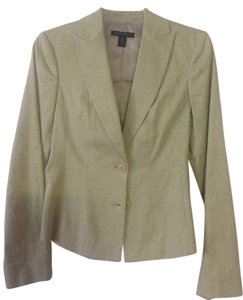 Kenneth Cole Fitted Classic Olive Green Blazer