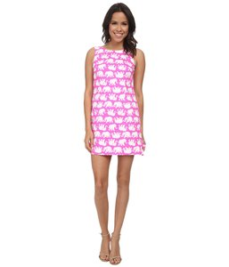 Lilly Pulitzer short dress Tusk in Sun Pink Pattern Shift on Tradesy