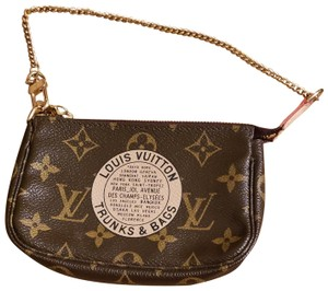 ce8ce48f77a2 Louis Vuitton Trunks   Bags Monogram Limited Edition Mini Pouch Wristlet in  brown