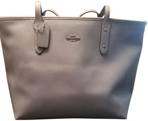 Coach Leather Tote in Slate Blue