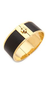Tory Burch Tory Burch skinny leather inlay Cuff bangle Bracelet