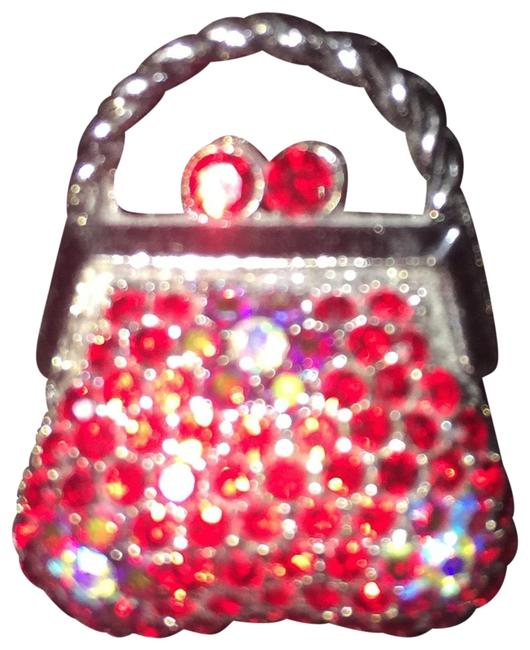 Item - Red Multi Crystal Bag Pin
