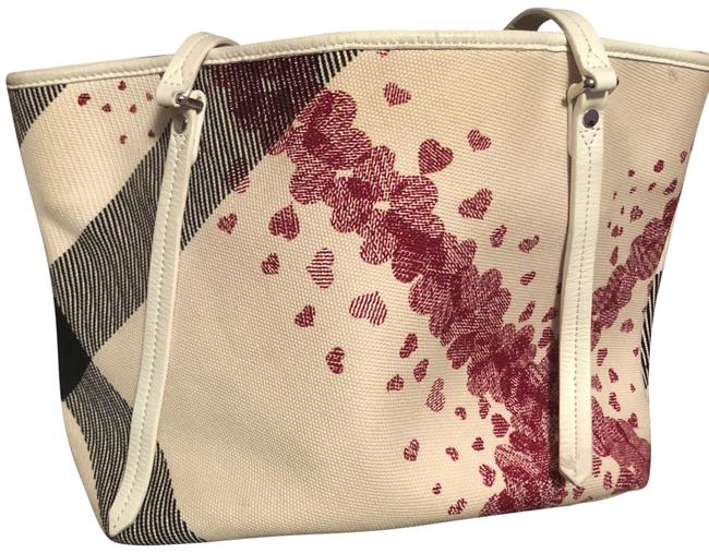 Item - Tote Rare Confetti Heart Wallet Red White and Black Calfskin Leather Shoulder Bag