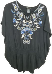 Style & Co Embroidered Cover Tunic