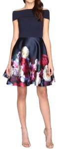 Ted Baker Floral Skater Bardot Dress