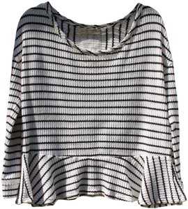 Free People Cotton Striped Casual Summer Sweater