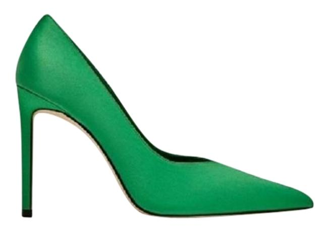 Item - Emerald Green High Heel V Vamp Court Pumps Size US 7.5 Regular (M, B)