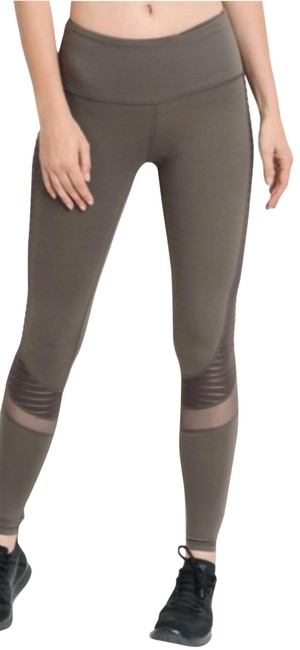 Item - Brown Yoga High Waist Tummy Control Ribbed Pant #005 Activewear Bottoms Size 4 (S, 27)
