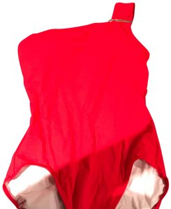 Michael Kors NWT Michael Kors Cruise 2018 One Piece One Shoulder Swimsuit True Red Size 14