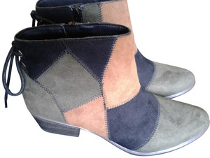 UNIONBAY Patchwork Suede Multi Boots