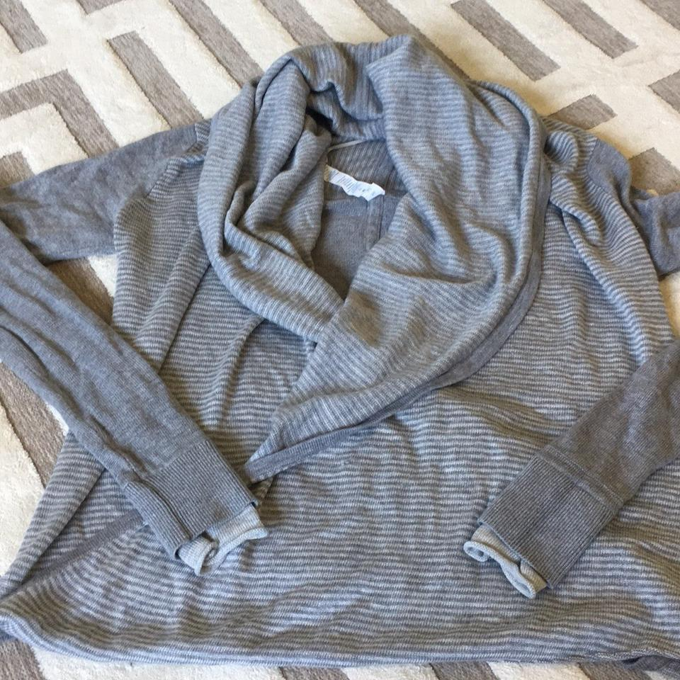 96e003616a Lululemon Grey Iconic Wrap Sweater Activewear Top Size 4 (S) - Tradesy