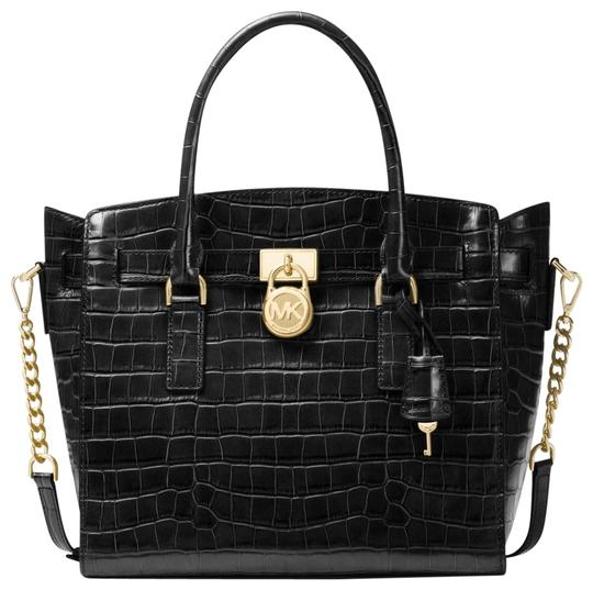 Preload https://img-static.tradesy.com/item/23315943/michael-kors-hamilton-studio-lg-ew-black-embossed-leather-satchel-0-1-540-540.jpg