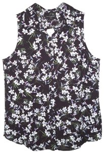 Banana Republic Floral Lily Sleeveless Classic Fit Top