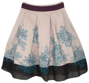 Anthropologie Floreat Cotton Full Embroidered Skirt