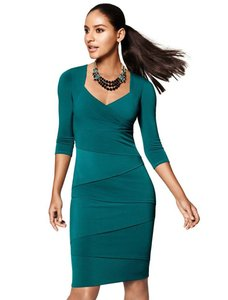 White House | Black Market Tiered Stretch Knit Fitted Dress