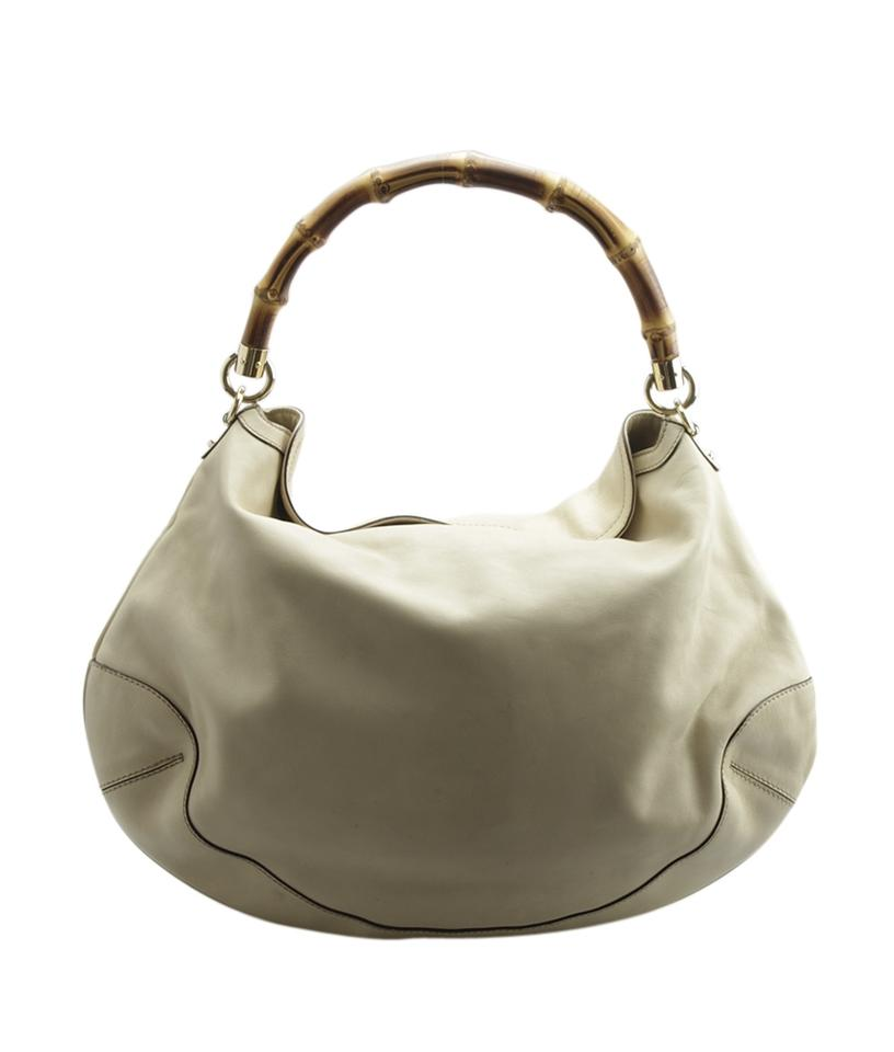 6f4d2b46f41e Gucci Medium Diana Bamboo (148357) Cream Leather Shoulder Bag - Tradesy