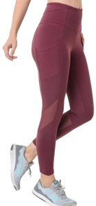 Mono B M PLUM Yoga Pants Pockets MESH High Waist Tummy Control Leggings 004