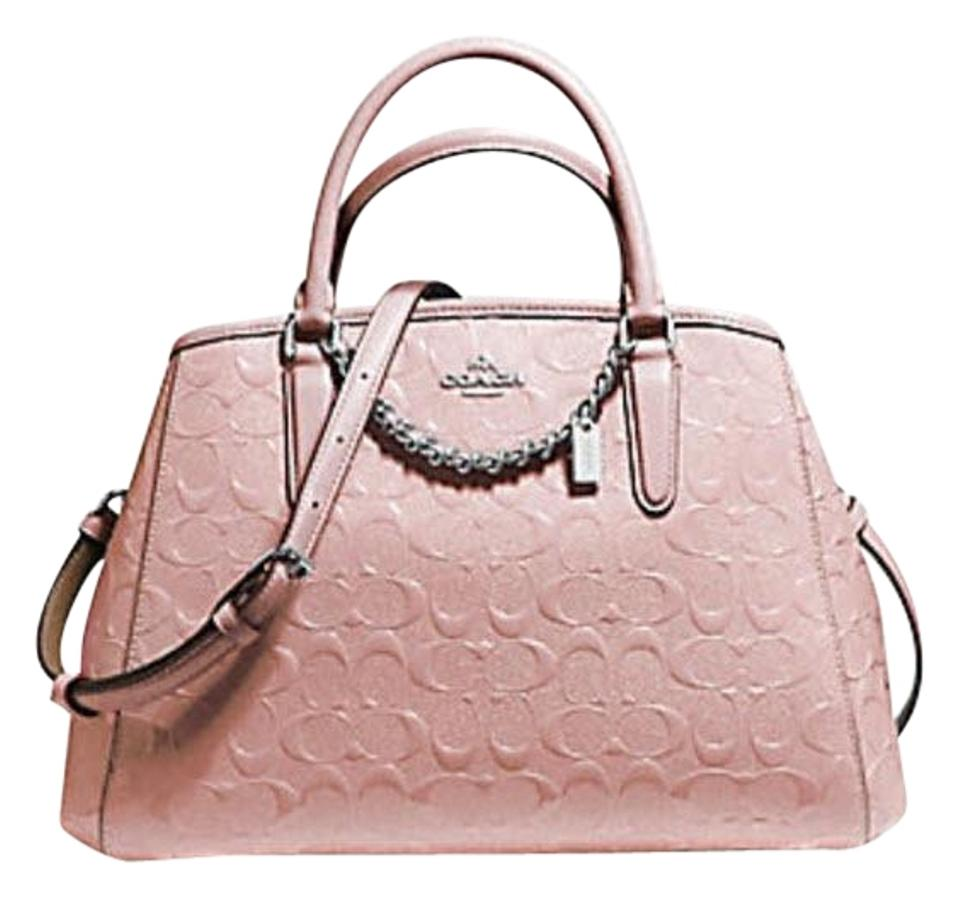 23990578d Coach Margot Small Carryall Signature Debossed F55451 Blush Pink ...