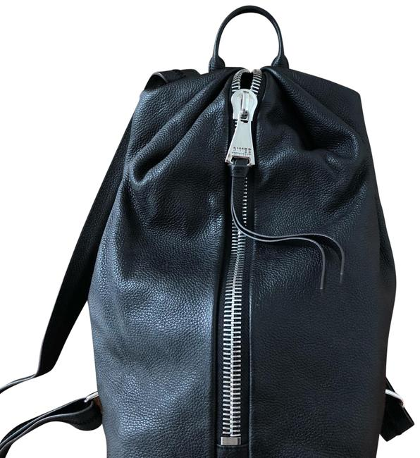 Item - Tamitha Black with Silver Hardware Leather Backpack