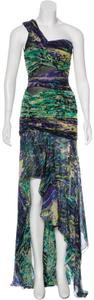 BCBGMAXAZRIA Multicolored High-low One Shoulder Dress