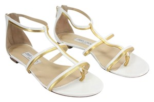 Jimmy Choo Tabitha Patent Gladiator white Sandals