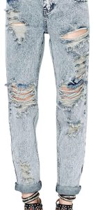 OneTeaspoon Boyfriend Cut Jeans-Light Wash