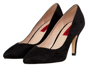 London Rebel Vintage Pointed Toe Black Pumps