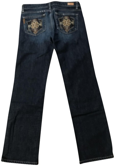 Item - Blue Distressed Denim Straight Leg Jeans Size 28 (4, S)