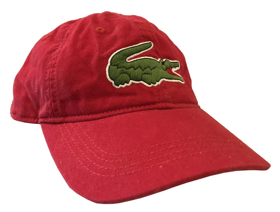 df4bd6a4 Lacoste Red Croc Gabardine Cap (Red) Hat 25% off retail