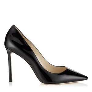 Jimmy Choo Romy Romy 100 38.5 Patent Black Pumps