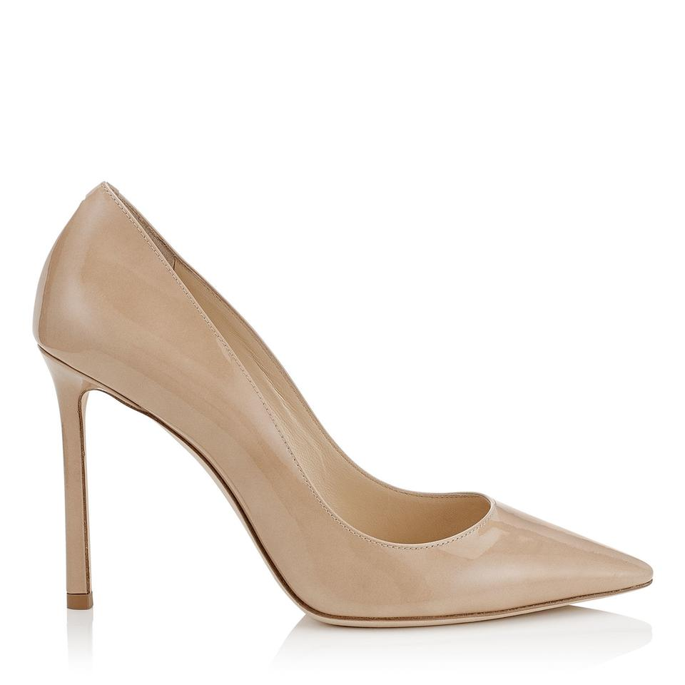 dd90a46b35c2 Jimmy Choo Nude New Romy 100 Patent 7.5 Pumps Size EU 38 (Approx. US ...