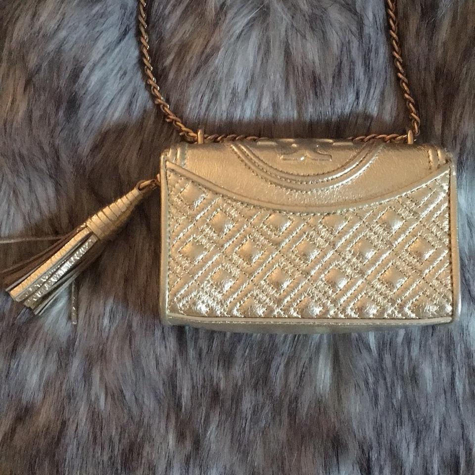 Mini Fleming Shoulder Burch Gold Bag Tory wAREBqn