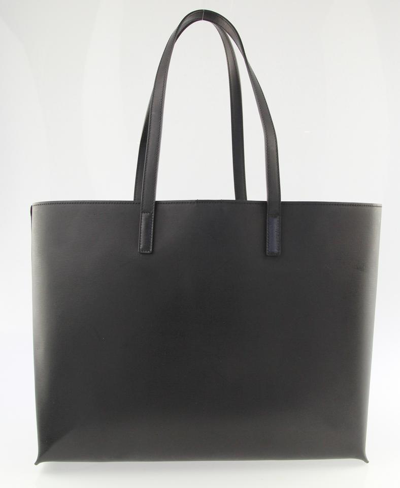 Perforated Black Laurent Shopping Calfskin Saint Leather Tote Monogram qwpTI11Bt