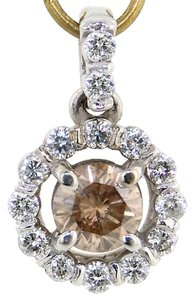 Diamond pendant chocolate .58tcw 14k white gold chocolate/H color SI2 clarity US