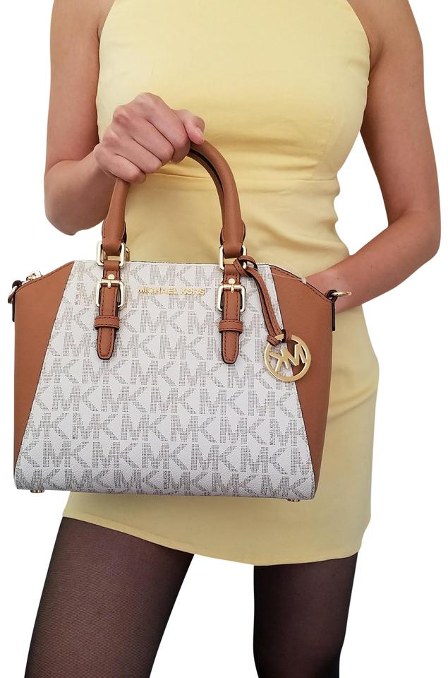 041868bbf1 Michael Kors Ciara Medium Acorn Vanilla Brown Satchel - Tradesy
