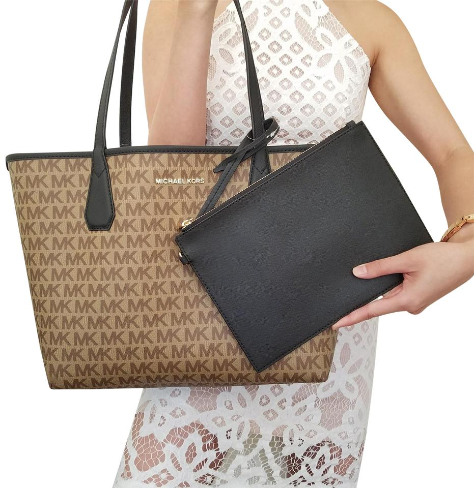 aa85280d4de1 Michael Kors Candy Large Reversible Brown and Black Tote - Tradesy
