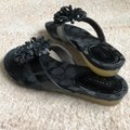 Coach Black Euc Serenity Parent Leather Flip Flop Sandals Size US 5 Regular (M, B) Coach Black Euc Serenity Parent Leather Flip Flop Sandals Size US 5 Regular (M, B) Image 3