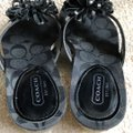 Coach Black Euc Serenity Parent Leather Flip Flop Sandals Size US 5 Regular (M, B) Coach Black Euc Serenity Parent Leather Flip Flop Sandals Size US 5 Regular (M, B) Image 6