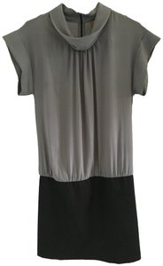 Cop. Copine short dress grey and black Avant-garde Chic Two-tone High Fashion Exposed Zipper on Tradesy